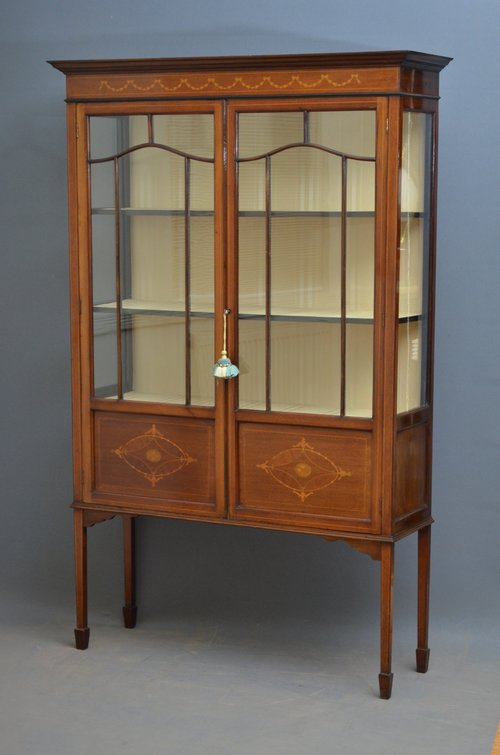 Antique Mahogany Display Cabinets With Glass Doors Cabinet Door Ideas