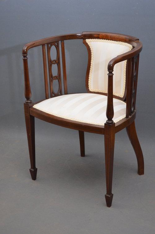 Elegant Fine Edwardian Chair   Tub Chair ...