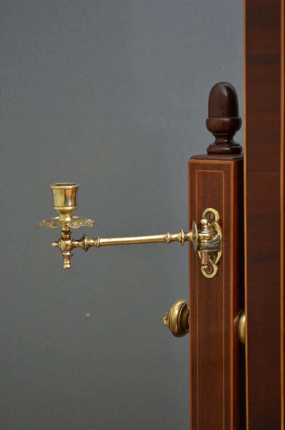 Fine Edwardian Cheval Mirror In Gany Antique Mirrors