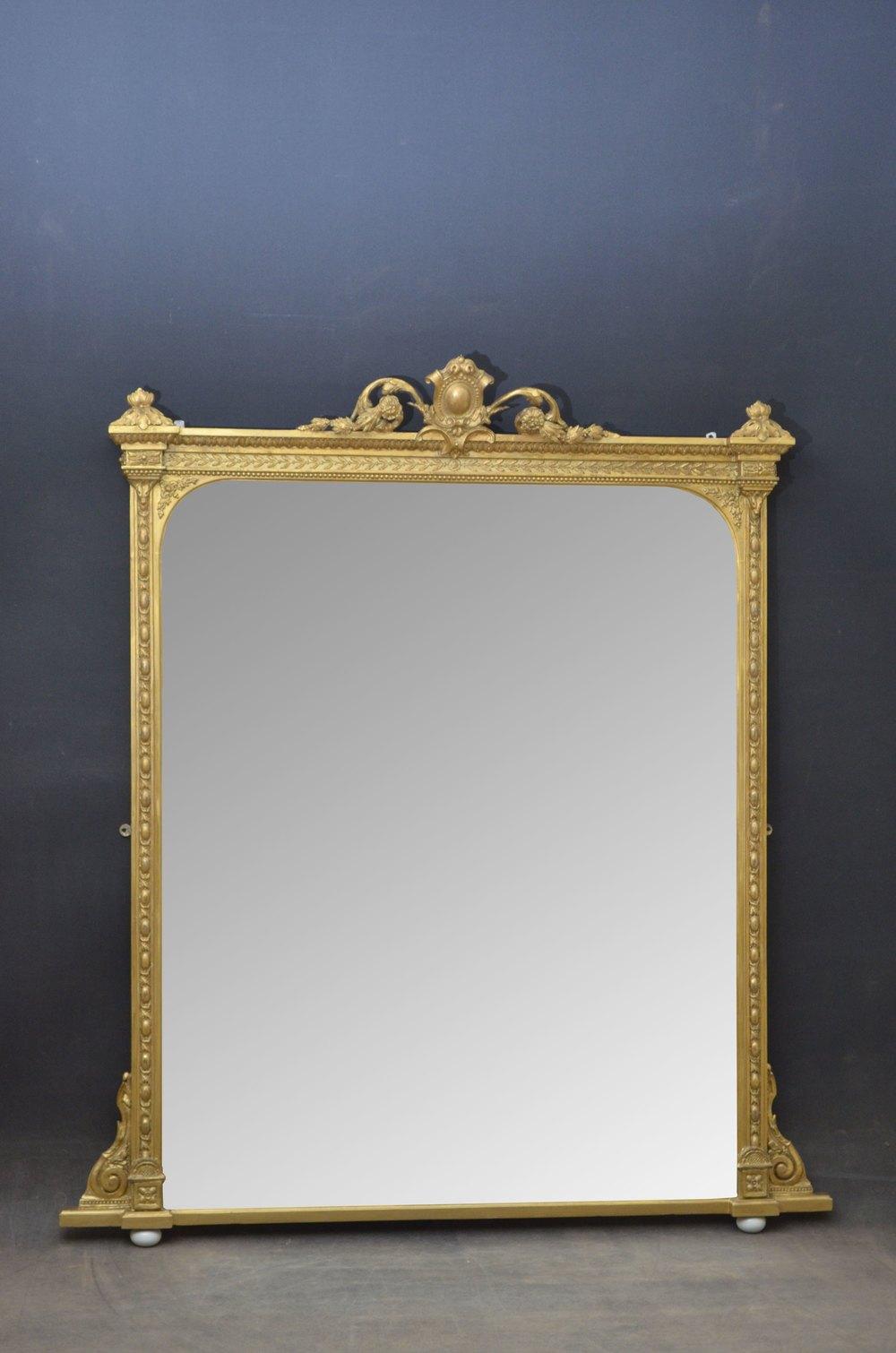 Antiques Atlas Large Victorian Overmantel Mirror
