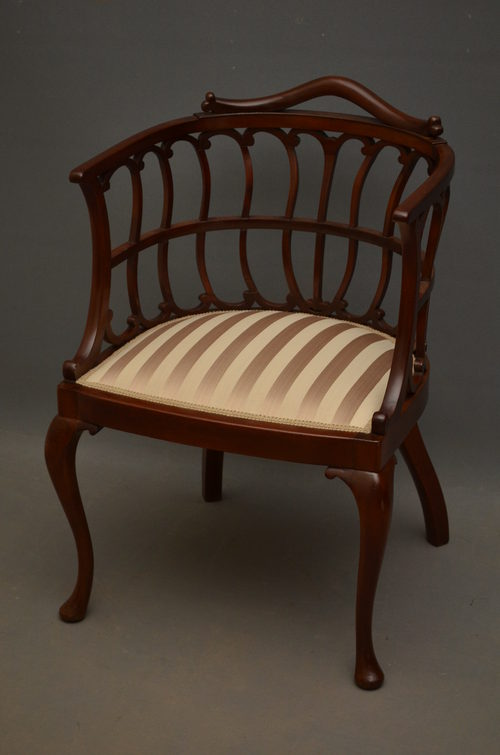 Late Victorian Chair by Druce & Co London - Late Victorian Chair By Druce & Co London - Antiques Atlas