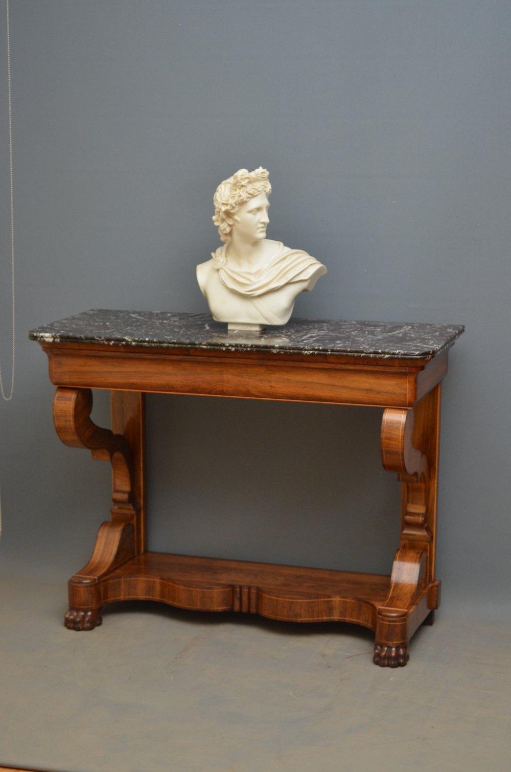 louis philippe walnut console table antiques atlas. Black Bedroom Furniture Sets. Home Design Ideas