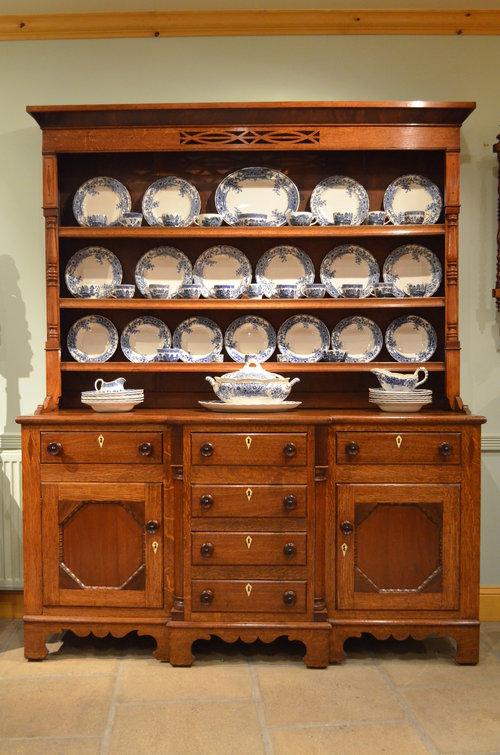 Oak And Mahogany Welsh Dresser