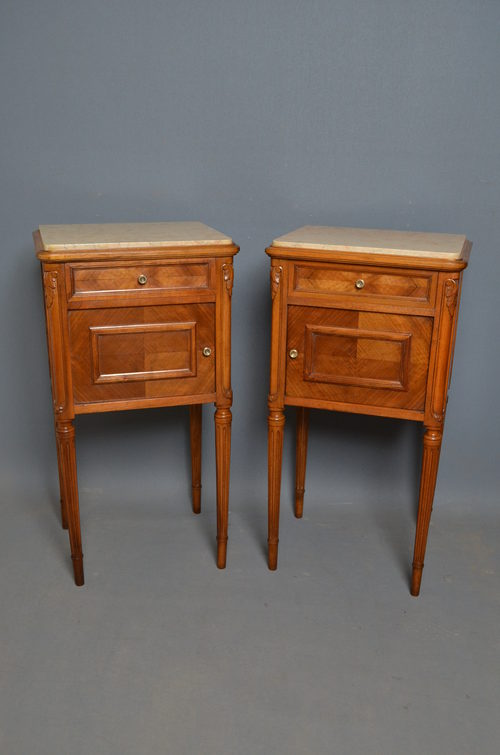 Pair Of French Bedside Cabinets Antiques Atlas