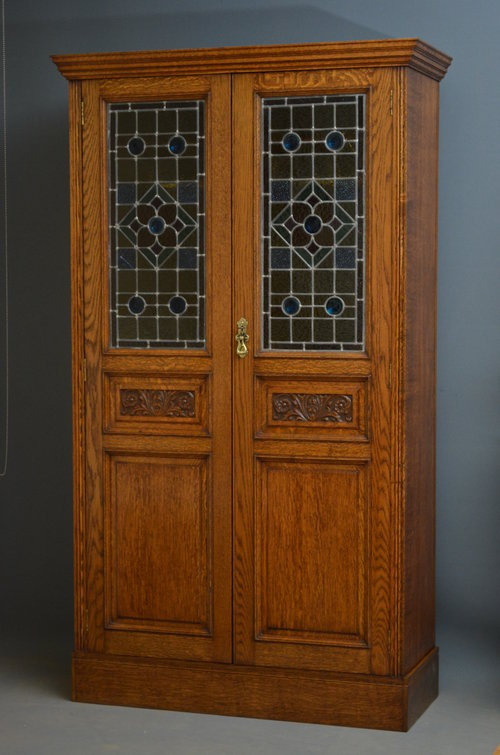 Victorian Oak Hall Cupboard Antiques Atlas