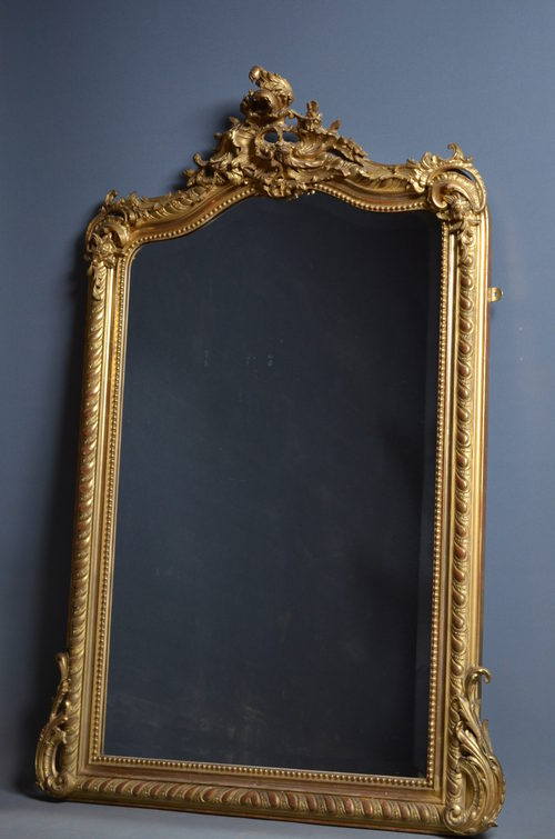 Antiques Atlas Victorian Overmantel Mirror Gilt Mirror