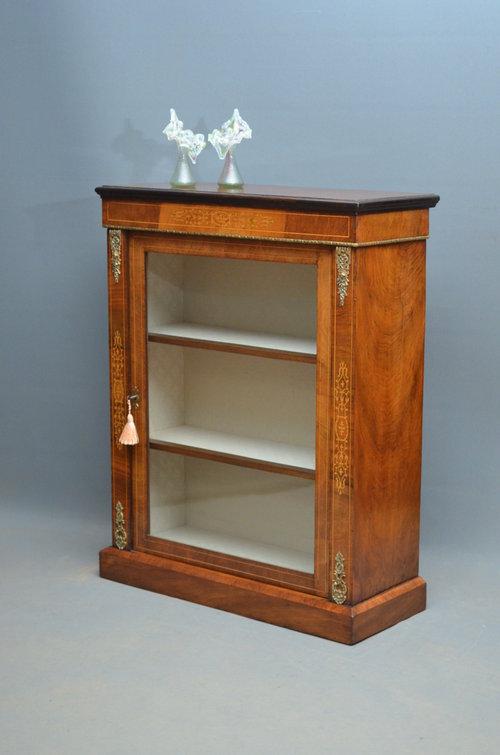 victorian pier cabinet in walnut - antiques atlas