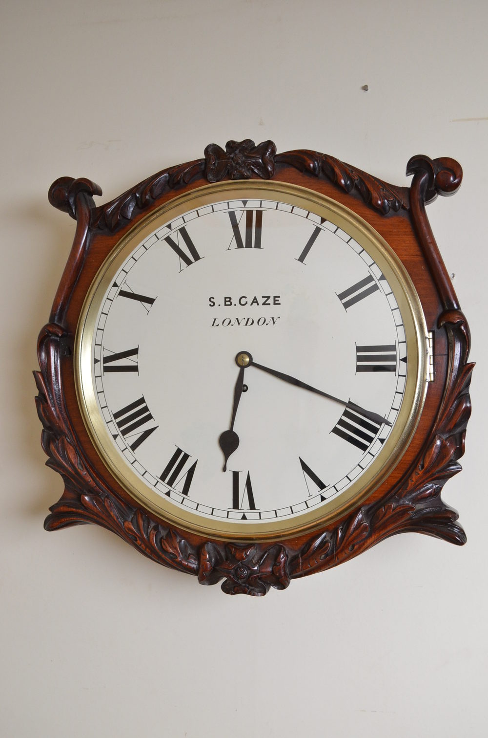 Antiques Atlas Victorian Wall Clock By S B Gaze London