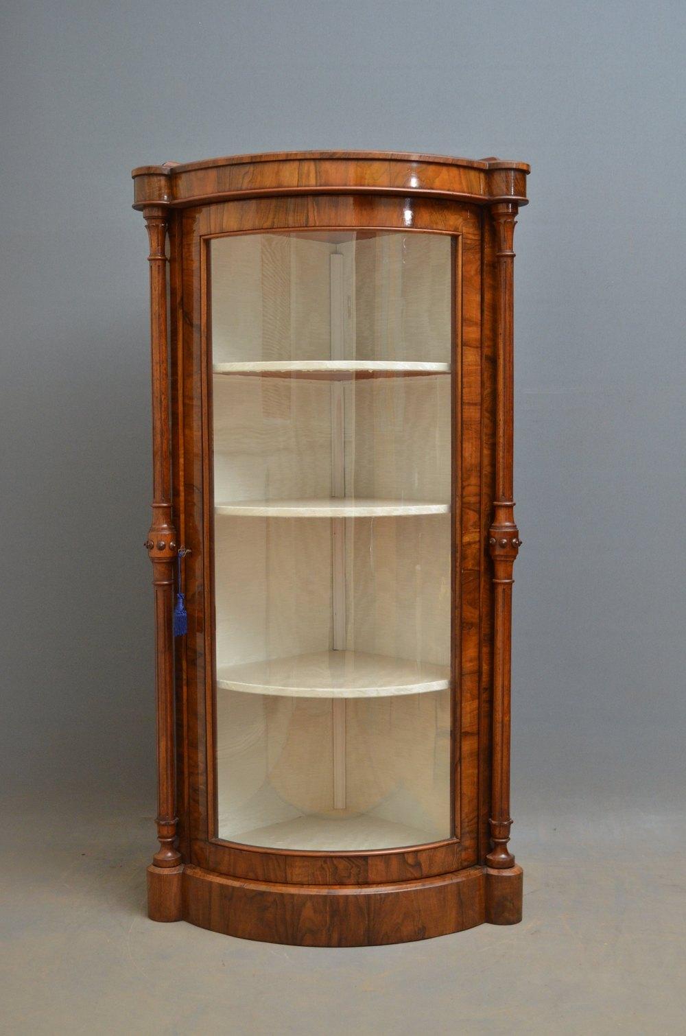 Victorian Walnut Corner Display Cabinet Antiques Atlas