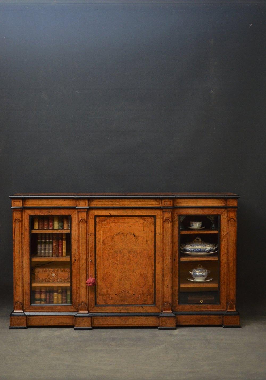 Victorian Walnut Low Bookcase Antiques Atlas