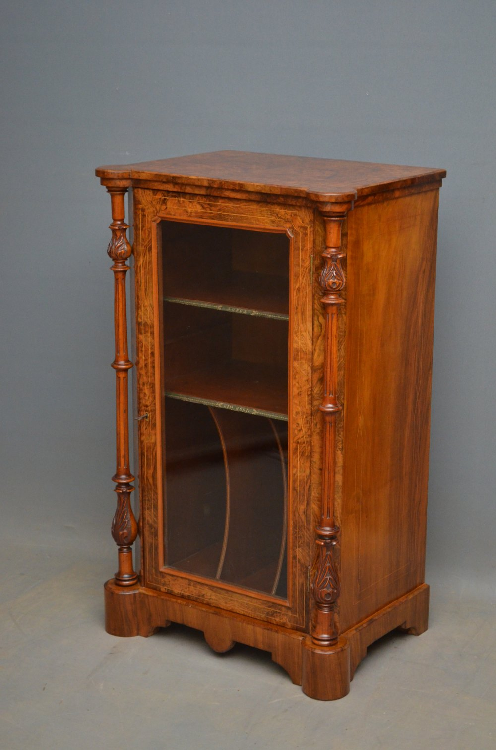 Superieur Victorian Walnut Music Cabinet ...