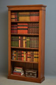 Antiques And Reclamation Yard Victorian Walnut Open Bookcase