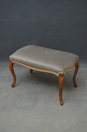 Edwardian Footstool With Tapestry Top Up-To-Date Styling Antique Furniture