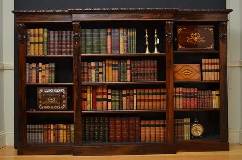 William IV Rosewood Bookcase