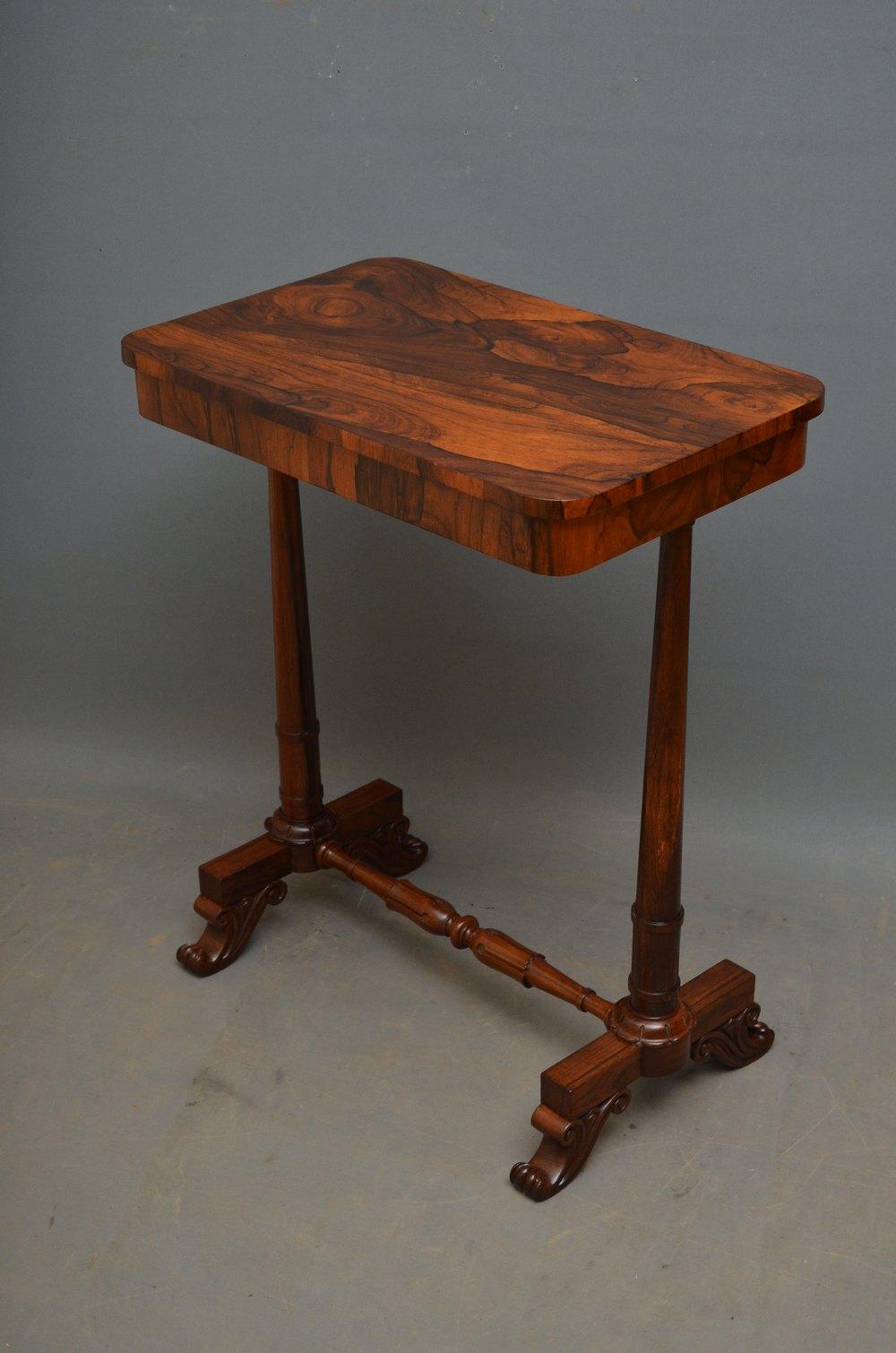William iv rosewood lamp table antiques atlas