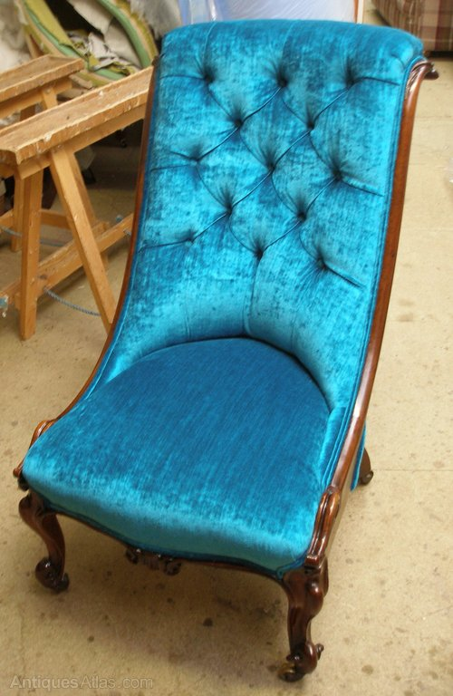 Victorian Deep Buttoned Nursing/slipper Chair ...
