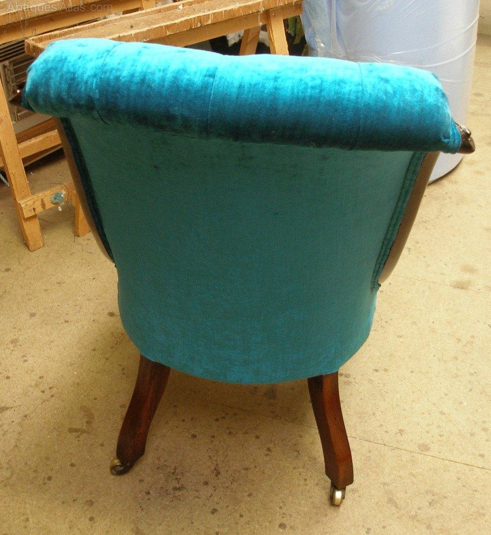 Antique slipper chair -  Antique Slipper Chairs Victorian Slipper Chair
