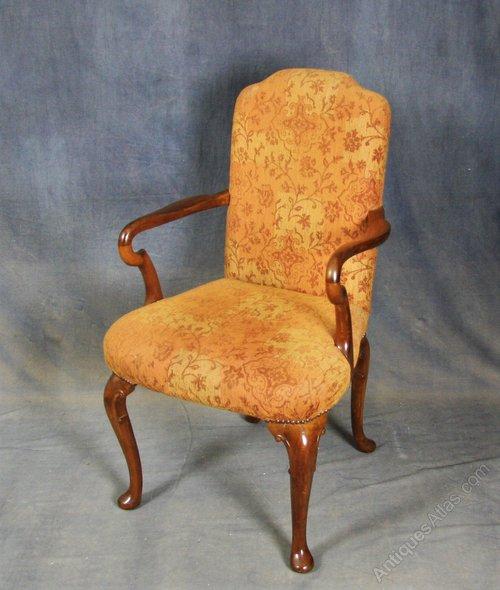 Early Victorian Mahogany Armchair