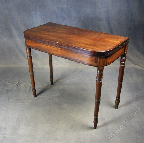 Georgian Mahogany Card / Side Table