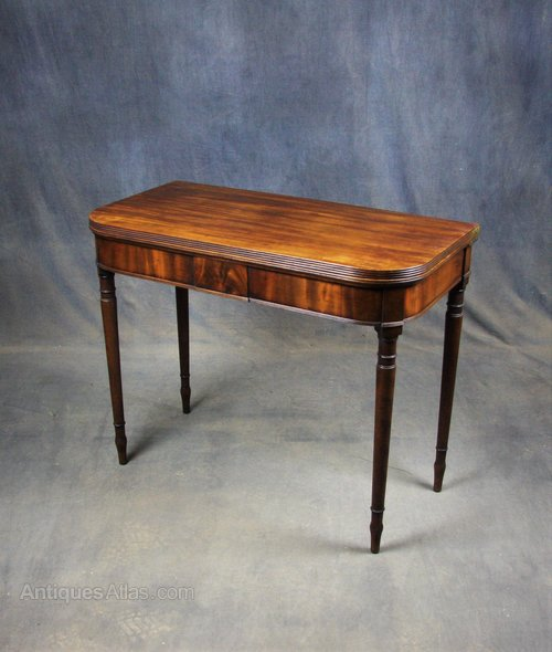 Georgian Mahogany Tea Table