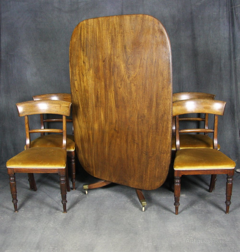 Regency Mahogany Dining Table And Chairs Antiques Atlas