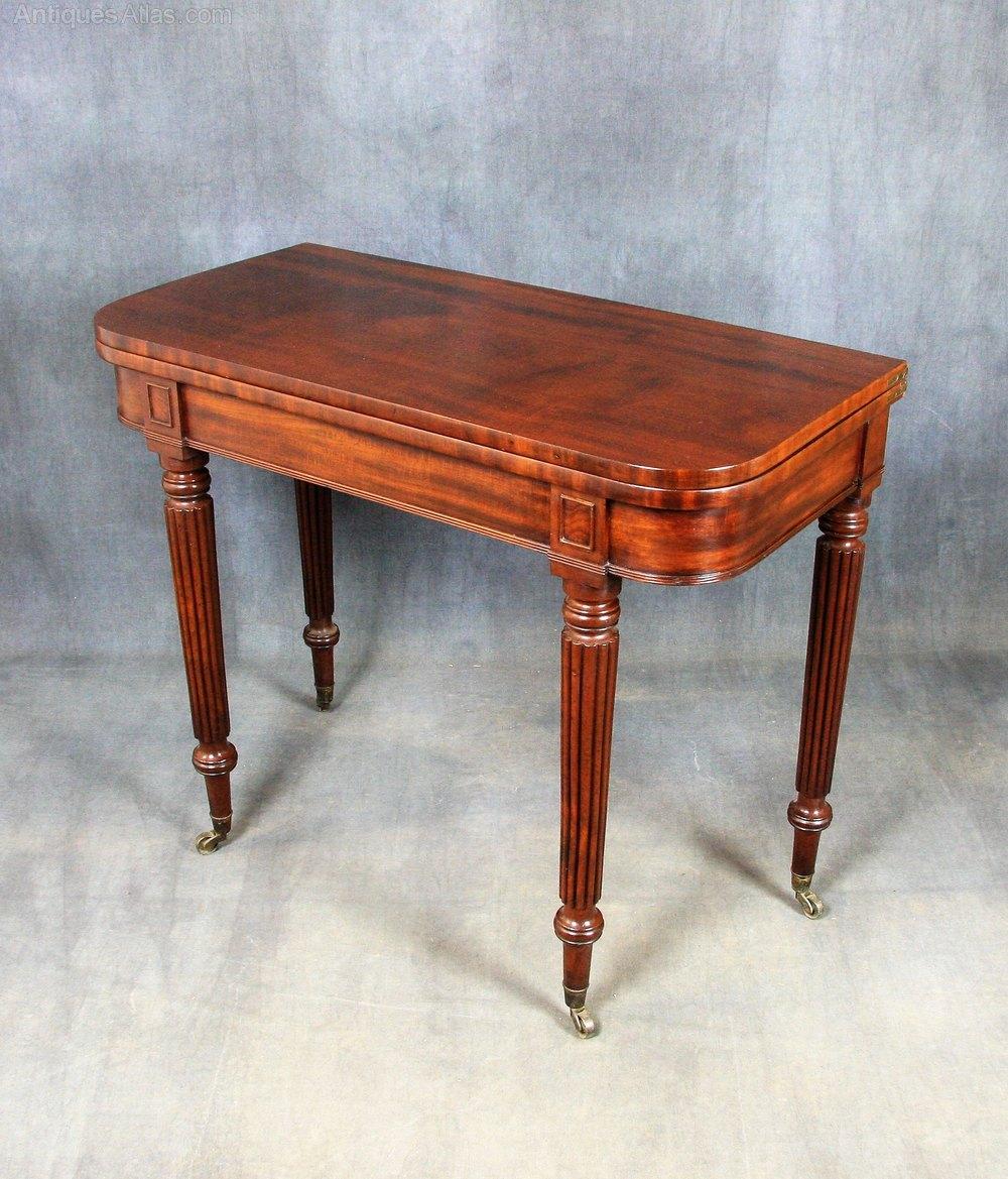 Antique regency mahogany tea table antique card tables uk antique - Regency Mahogany Tea Table Antique Games Tables