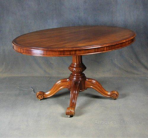 Victorian Mahogany Oval Breakfast / Dining Table