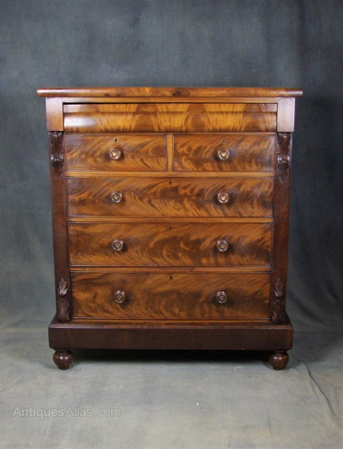 Victorian Mahogany Scottish Chest of Drawers