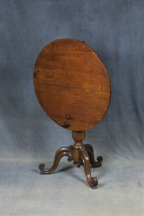 William IV Oak Tilt Top Table