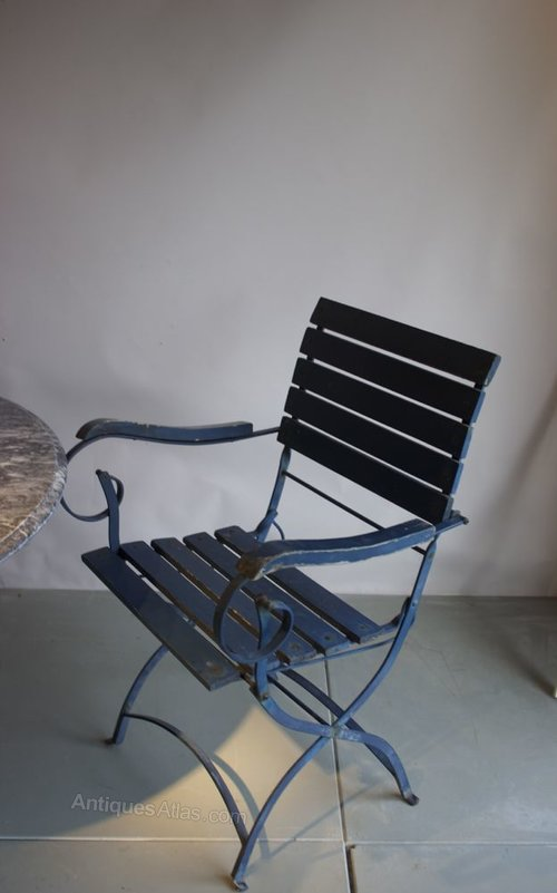 Antiques Atlas 4 Pairs Of French Folding Garden Chairs Circa 1950
