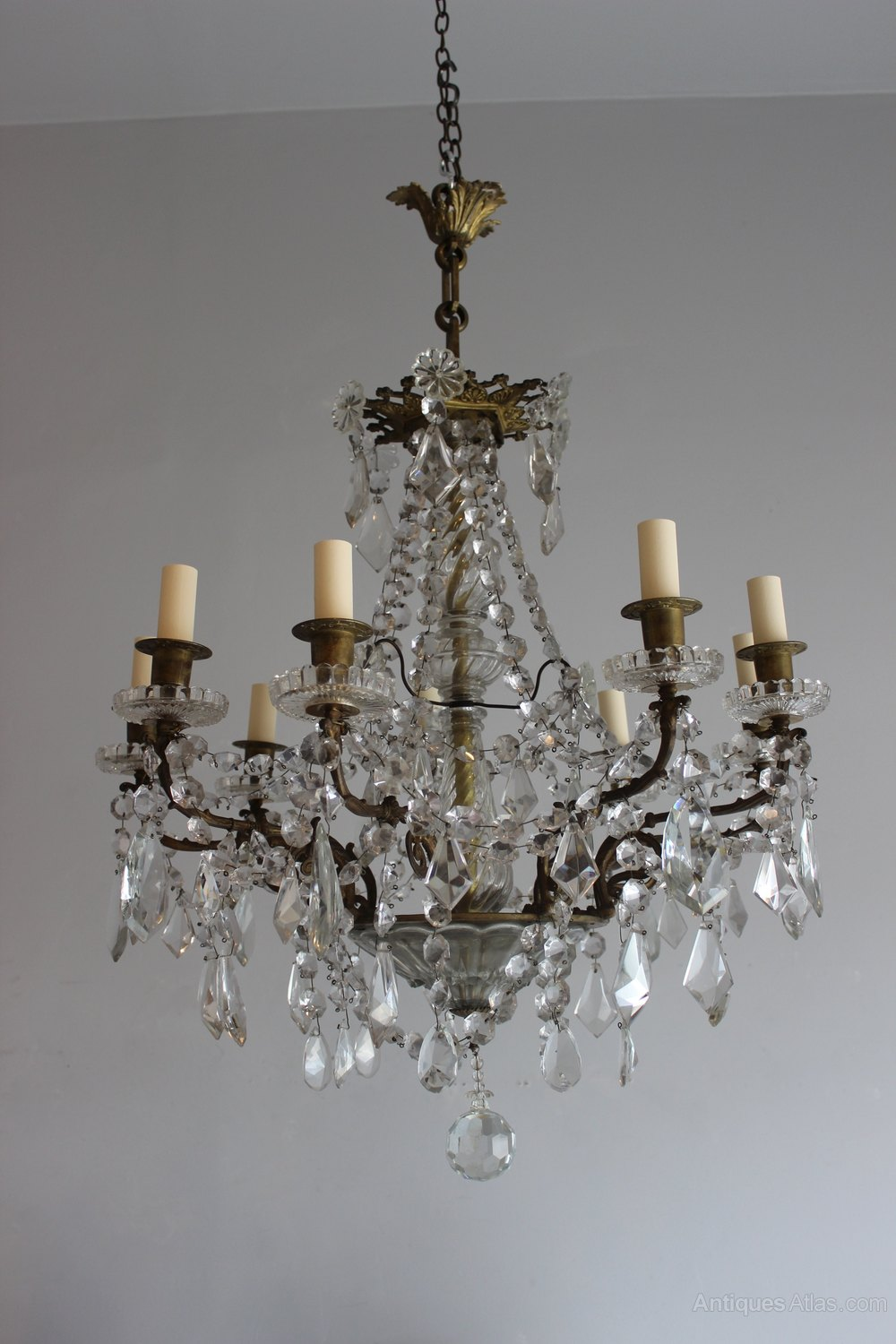 Cut Glass French Antique Chandelier Lighting Chandeliers