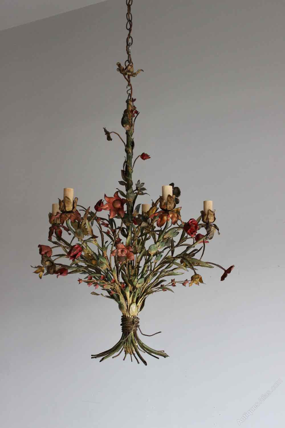 Antiques atlas enamelled italian antique chandelier enamelled italian antique chandelier arubaitofo Images