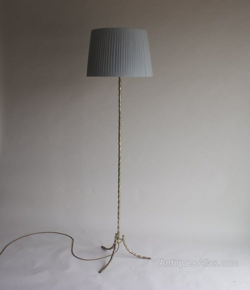 Antiques Atlas - French 1960s Brass Bamboo Floor Lamp
