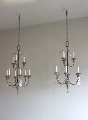 New  ChandelierVictorian Four Poster Beds Pair of silver gilt antique ch