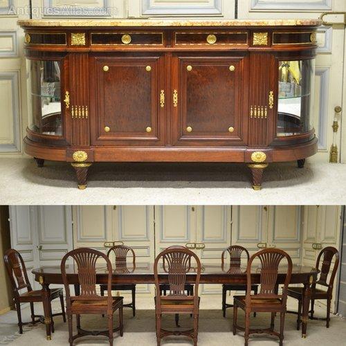 Dining Room Set Mahogany Louis XVI Style