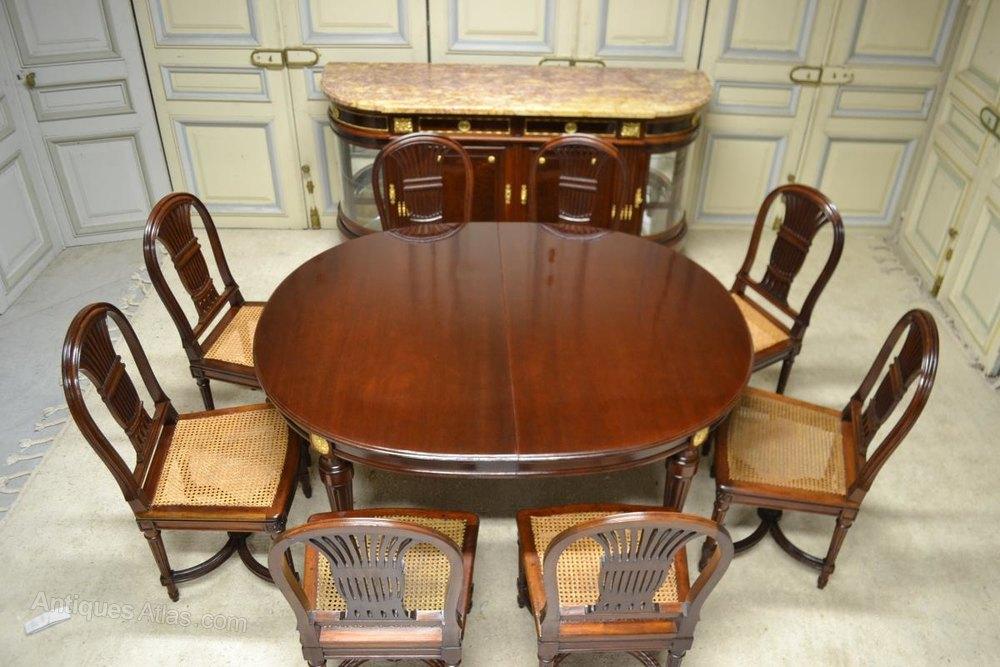 Photos Dining Room Set Mahogany Louis XVI