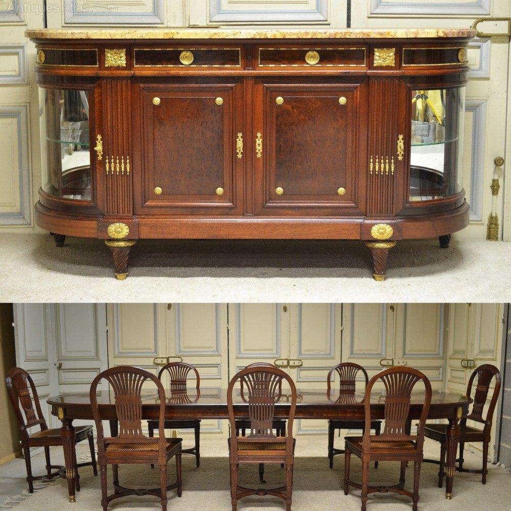 Dining Room Set Mahogany Louis XVI Style ...