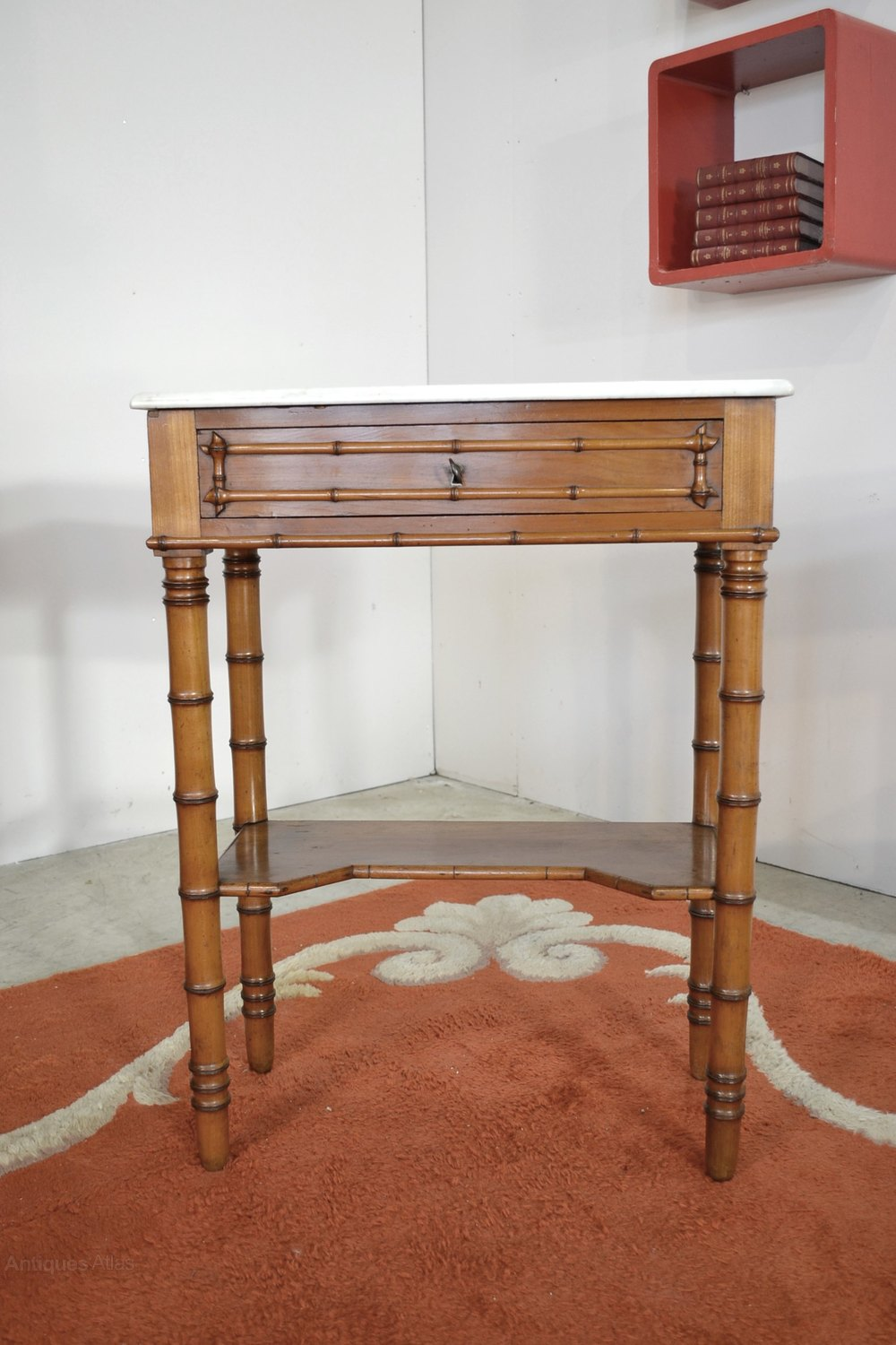 Old Small Table Bamboo Style Antique Side Tables