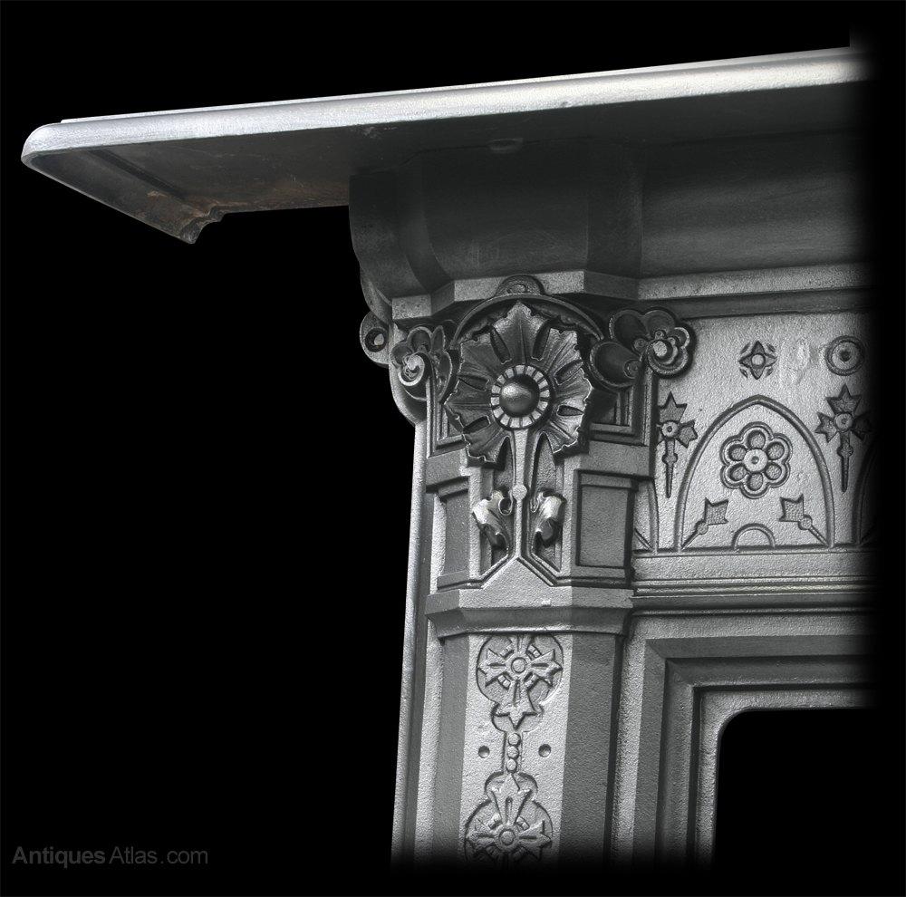 antiques atlas antique victorian cast iron fireplace surround