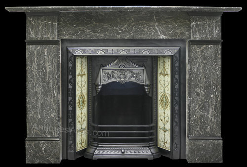 Antiques Atlas Reclaimed Late Victorian Black Marble Fireplace