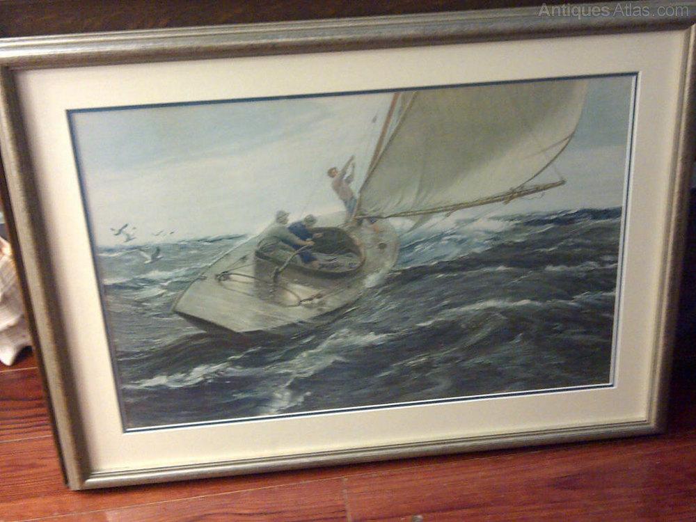 Antiques Atlas Charles Napier Hemy Marine Print