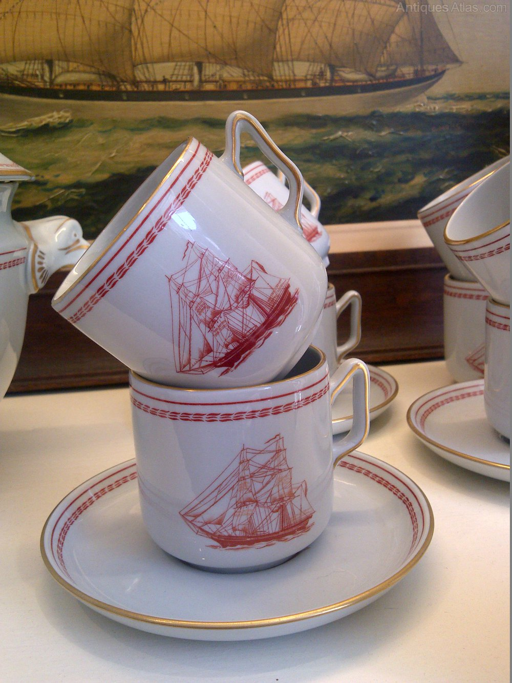 Antiques Atlas - Spode \'Trade Winds\' (red) Dinner Service