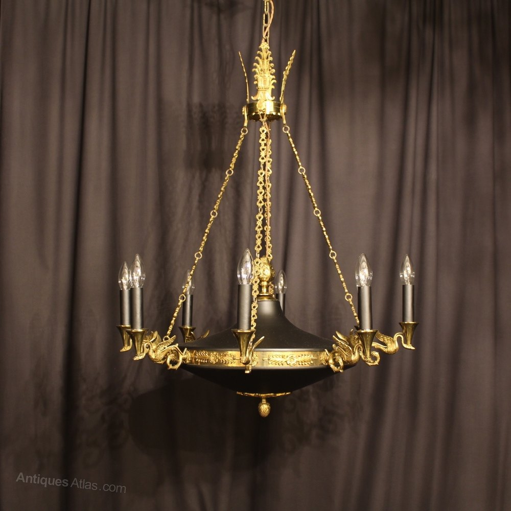 A French Empire 8 Light Antique Chandelier ... - Antiques Atlas - A French Empire 8 Light Antique Chandelier