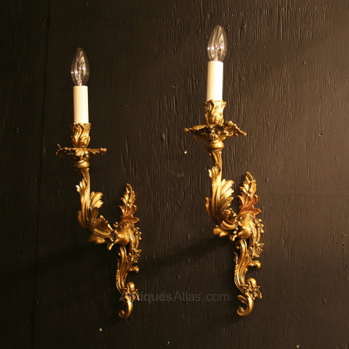 Antiques Atlas A French Pair Of Single Antique Wall Sconces