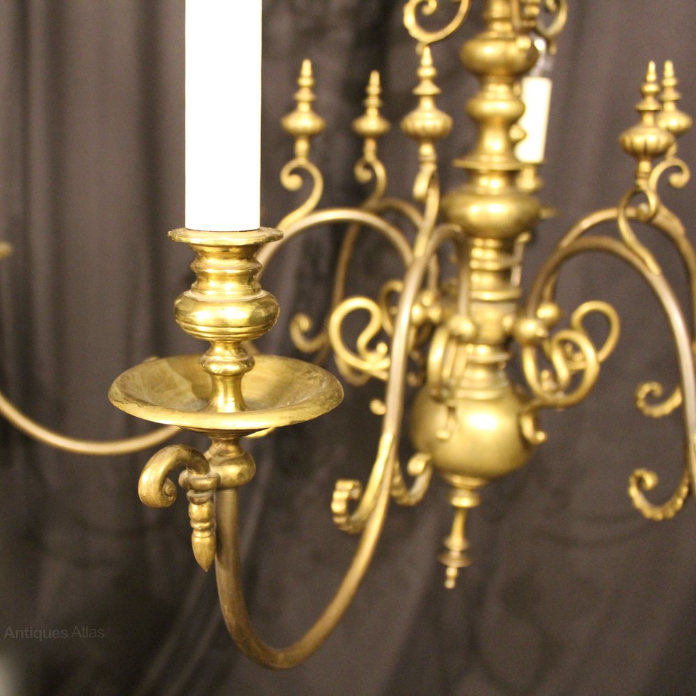 Antiques atlas a large flemish brass 6 light antique chandelier antique lighting antique flemish chandeliers arubaitofo Gallery