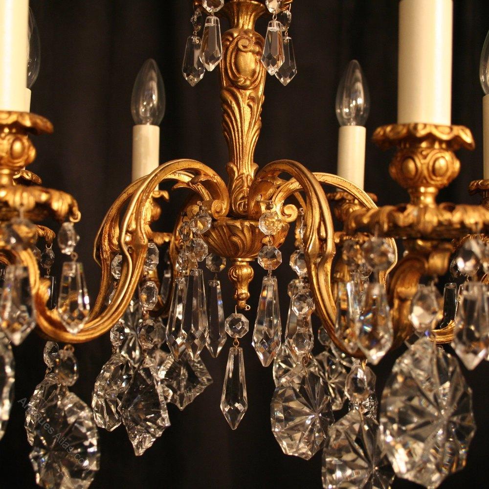 ... Antique Lighting, Antique Italian Chandeliers ... - Antiques Atlas - An Italian 6 Light Bronze Antique Chandelier