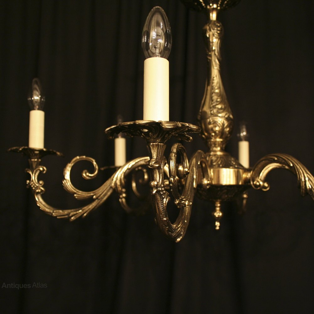 ... Antique Lighting, Antique Italian Chandeliers ... - Antiques Atlas - An Italian Cast Brass 6 Light Antique Chandelier