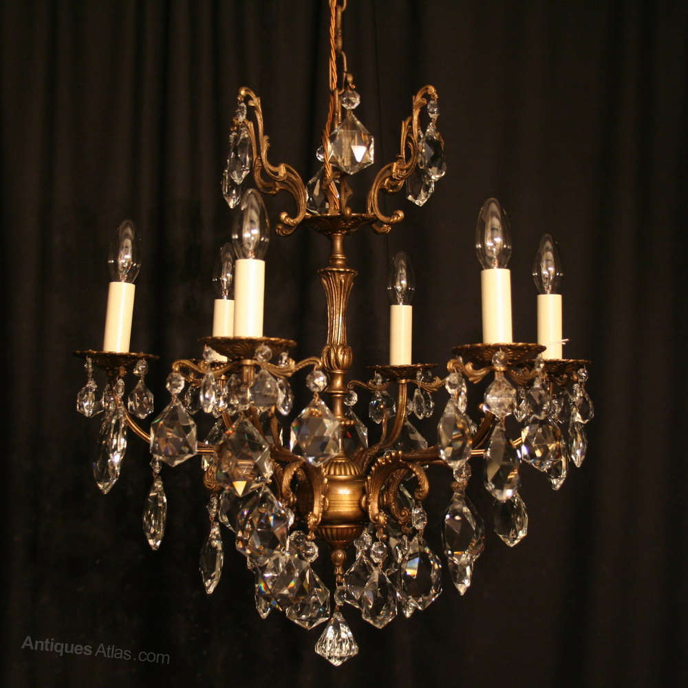 Antiques atlas an italian cast brass 6 light antique chandelier an italian cast brass 6 light antique chandelier arubaitofo Choice Image