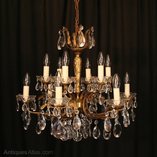 Antiques atlas an italian gilded 12 light antique chandelier an italian gilded 12 light antique chandelier aloadofball Gallery