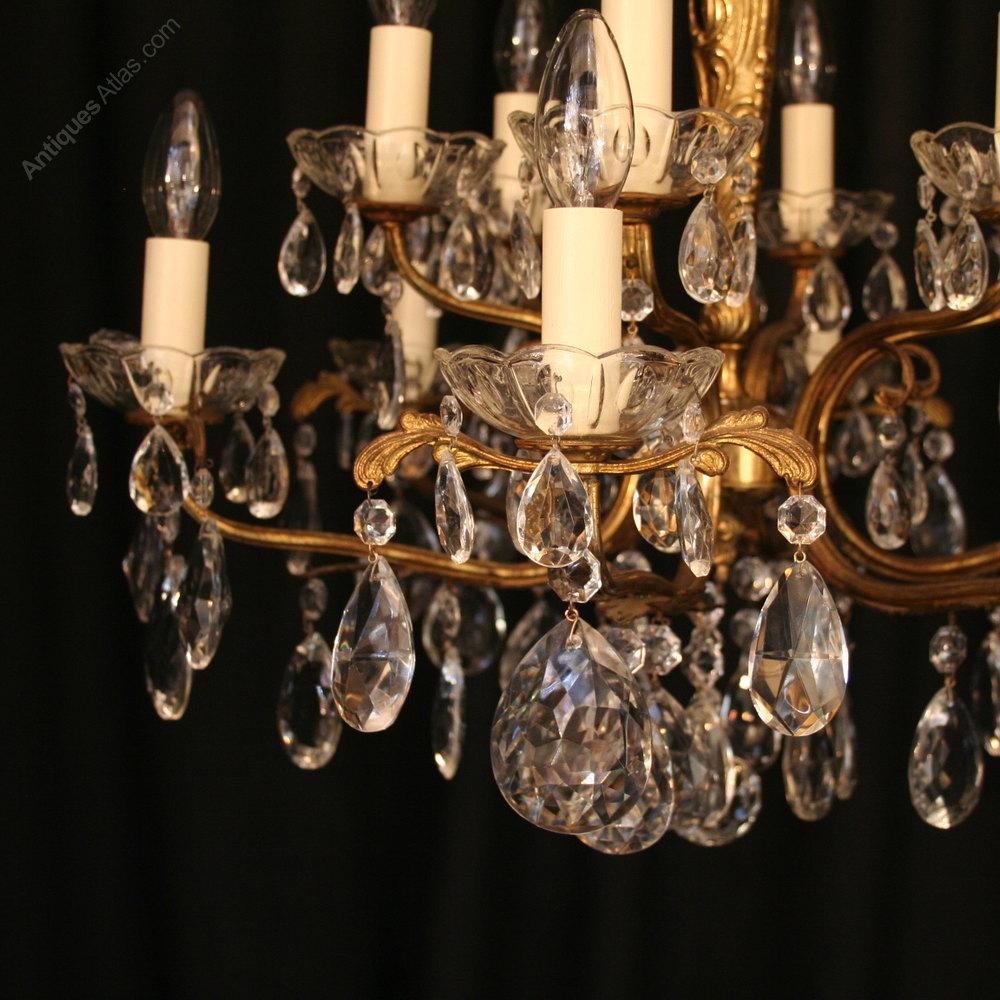 ... Antique Lighting, Antique Italian Chandeliers ... - Antiques Atlas - An Italian Gilded 12 Light Antique Chandelier